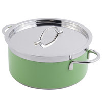 Bon Chef 60303 Classic Country French Collection 5.7 Qt. Green Pot with Cover