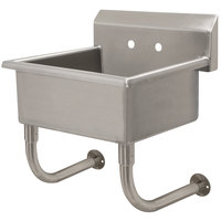 Advance Tabco FS-WM-2219 Spec Line Wall Mount Service Sink 23 inch x 19 1/2 inch with 10 inch Deep Bowl