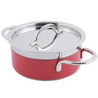 Bon Chef 60303 Classic Country French Collection 5.7 Qt. Red Pot with Cover