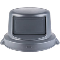 44 Gallon Gray Dome Top Trash Can Lid