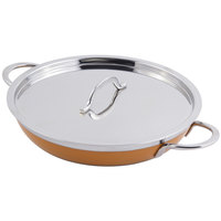 Bon Chef 60305 Classic Country French Collection 2 Qt. 12 oz. Orange Saute Pan / Skillet with Cover and Double Handles