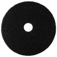 Scrubble by ACS 72-18 Type 72 18 inch Black Stripping Floor Pad - 5/Case