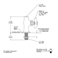 T&S 007257-40 Base Assembly with Rigid Outlet for BL-5705-01 Faucets