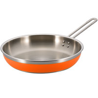 Bon Chef 60309 Classic Country French Collection 3 Qt. 4 oz. Orange Saute Pan / Skillet with 1 Long Handle