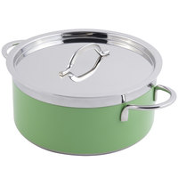Bon Chef 60300 Classic Country French Collection 2.3 Qt. Green Pot with Cover
