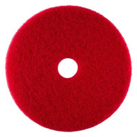 Scrubble by ACS 51-16 Type 55 16 inch Red Buffing Floor Pad   - 5/Case