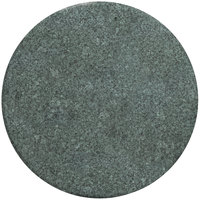 Grosfillex 99831125 30 inch Granite Green Round Molded Melamine Outdoor Table Top