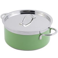 Bon Chef 60302 Classic Country French Collection 4.3 Qt. Green Pot with Cover