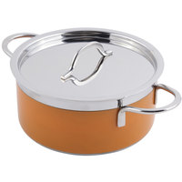 Bon Chef 60302 Classic Country French Collection 4.3 Qt. Orange Pot with Cover