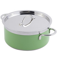 Bon Chef 60301 Classic Country French Collection 3.3 Qt. Green Pot with Cover