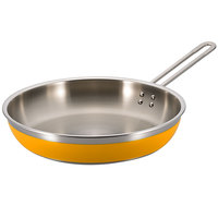 Bon Chef 60309 Classic Country French Collection 3 Qt. 4 oz. Yellow Saute Pan / Skillet with 1 Long Handle