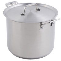 Bon Chef 60003 Cucina 7 Qt. Stainless Steel Stock Pot with Lid