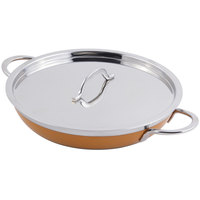 Bon Chef 60306 Classic Country French Collection 3 Qt. 4 oz. Orange Saute Pan / Skillet with Cover and Double Handles