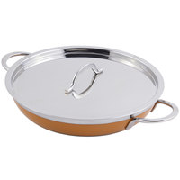 Bon Chef 60304 Classic Country French Collection 1 Qt. 20 oz. Orange Saute Pan / Skillet with Cover and Double Handles