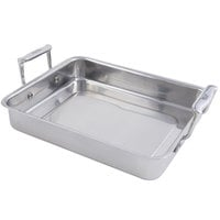 "Bon Chef 60013 Cucina 3 Qt. Stainless Steel Small Food Pan with Handles - 11 3/4"" x 9 3/8"" x 2 1/8"""