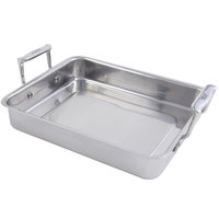 Bon Chef 60013 Cucina 3 Qt. Stainless Steel Small Food Pan with Handles - 11 3/4 inch x 9 3/8 inch x 2 1/8 inch