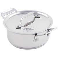 Bon Chef 60025HF Cucina 40 oz. Hammered Finish Stainless Steel Pan with Lid