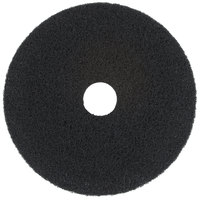 Scrubble by ACS 72-19 Type 72 19 inch Black Stripping Floor Pad - 5/Case