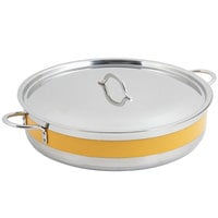 Bon Chef 60032CLD Cucina 9 qt. Yellow Brazier Pot with Cover