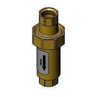T&S 007842-45 Backflow Preventer Valve with 1/2 inch NPT Female Connections
