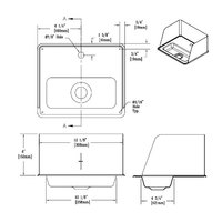 T&S 010124-45 Drip Pan Assembly with Splash Guard