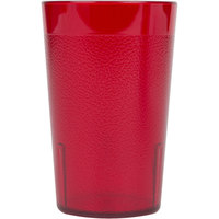 Cambro 800P156 Colorware 7.8 oz. Ruby Red Plastic Tumbler - 6/Pack