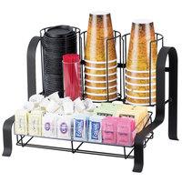 Cal-Mil 1594-13 Black Soho Condiment Organizer - 15 3/4 inch x 11 3/4 inch x 12 inch