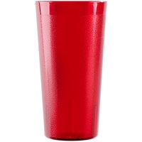Cambro 2000P156 Colorware 22 oz. Ruby Red Plastic Tumbler - 6/Pack