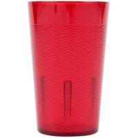 Cambro 500P156 Colorware 5.2 oz. Ruby Red Plastic Tumbler - 6/Pack