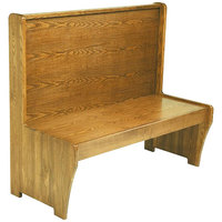 American Tables & Seating AWS-72 Single Wood Booth - 42 inch High