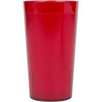 Cambro 1200P156 Colorware 12.6 oz. Ruby Red Plastic Tumbler - 6/Pack