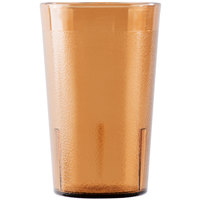 Cambro 950P153 Colorware 9.8 oz. Amber Plastic Tumbler - 6/Pack
