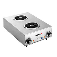 Wells H-115 Countertop Two Burner Electric Hot Plate - 120V, 1650W