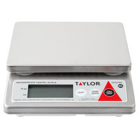 Taylor TE10CSW 10 lb. Waterproof Digital Portion Control Scale for Dry and Liquid Measuring