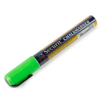 American Metalcraft BLSMA510GR Securit All-Purpose Small Tip Green Chalk Marker - 2/Pack