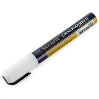 American Metalcraft BLSMA510WT Securit All-Purpose Small Tip White Chalk Marker - 2/Pack