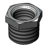 T&S 011811-25 Chrome Plated Faucet Bushing with 3/4 inch NPTM and 1/2 inch NPTF Connections