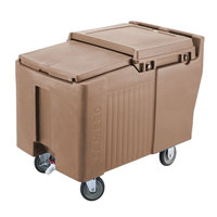 Cambro ICS175L157 SlidingLid Coffee Beige Portable Ice Bin - 175 lb. Capacity