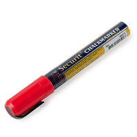 American Metalcraft BLSMA510RD Securit All-Purpose Small Tip Red Chalk Marker - 2/Pack