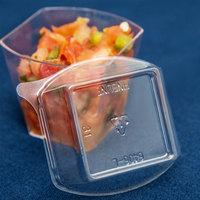 Fineline Tiny Temptations 6406-L Clear Dome Lid for 2.2 oz. Tiny Tumbler   - 1000/Case