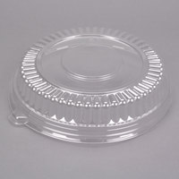Fineline Platter Pleasers 9201-LL 12 inch Clear PET Plastic Round Low Dome Lid - 25/Case
