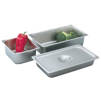 Vollrath 75202 2 1/2 inch Deep 1/2 Size Stainless Steel Deli Pan