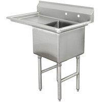 Advance Tabco FC-1-1824-24 One Compartment Stainless Steel Commercial Sink with One Drainboard - 45 inch