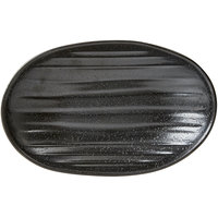 Elite Global Solutions JW7309 Zen 9 1/8 inch x 5 3/4 inch Black Deep Oval Plate