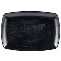 Elite Global Solutions JW7312 Zen 12 1/4 inch x 8 1/2 inch Black Rectangular Platter - 6/Case