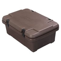 Carlisle PC160N01 Cateraide 6 inch Deep Brown Top Loading Insulated Food Pan Carrier