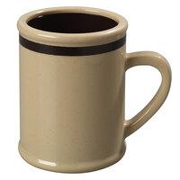 Carlisle 850519 8 oz. Stone Rustic Mug with Stripe - 36 / Case