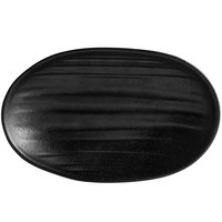 Elite Global Solutions JW7308 Zen 8 1/8 inch x 5 1/8 inch Black Deep Oval Plate - 6/Case