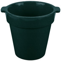 Tablecraft CW1440 1.75 Qt. Round Hunter Green with White Speckle Condiment Crock / Bowl
