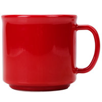 Carlisle 4305805 10 oz. Red Stackable Polycarbonate Mug - 12/Case